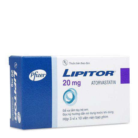 Lipitor 20mg (Atorvastatin)Pfizer (H/30v) (Cty)