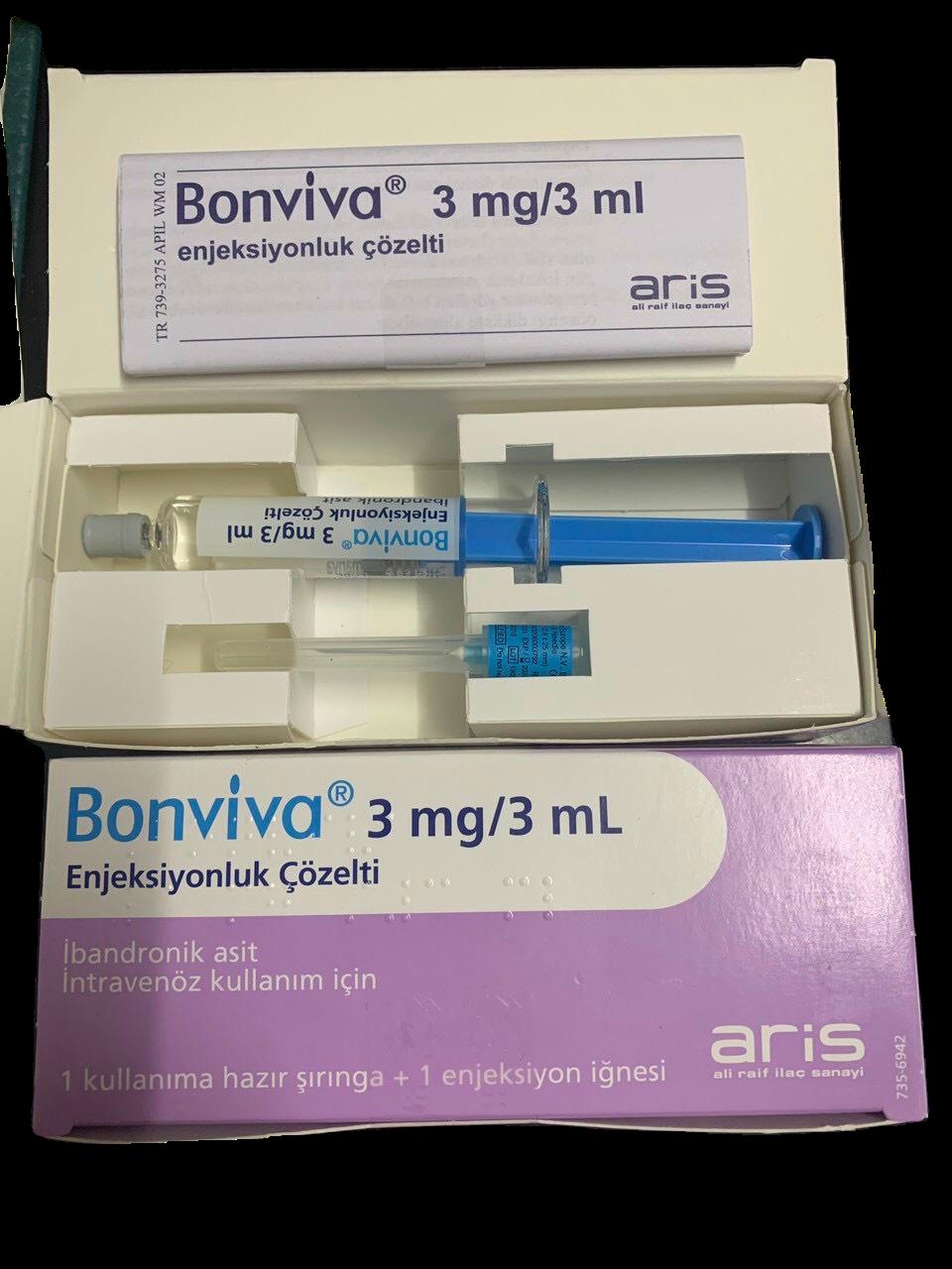 Bonviva 3mg/3ml (Ibandronic Acid) Hộp 1 ống