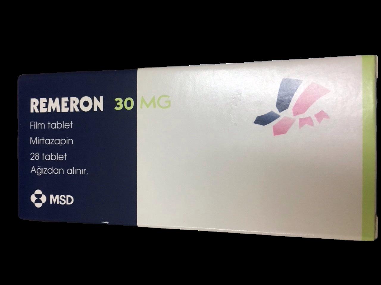 Remeron 30mg (Mirtazapin) MSD (H/28v)