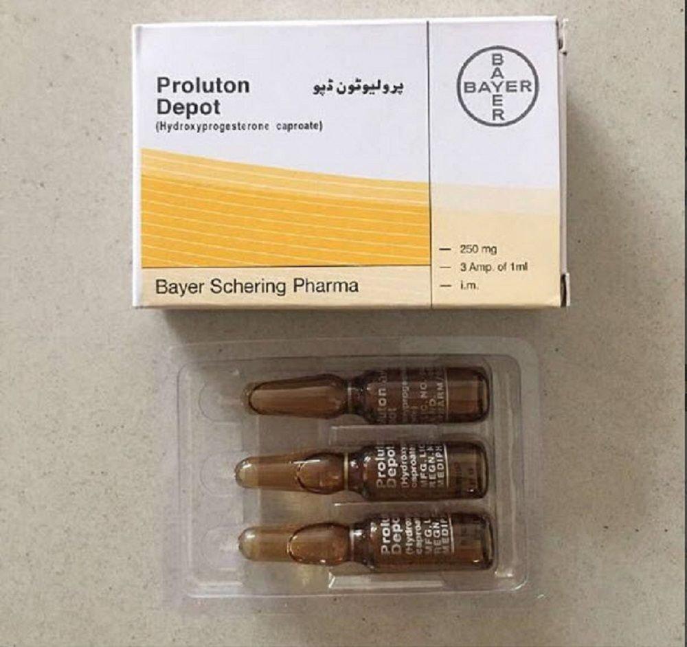 Proluton Depot 250mg (Hydroxyprogesterone Caproate) (Hộp 3 ống/1ml)